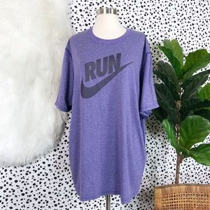 Nike | Plus Size Run Dri Fit Workout Tee Shirt Top